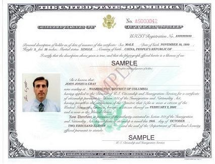 Certificate of Citizenship Replacement
