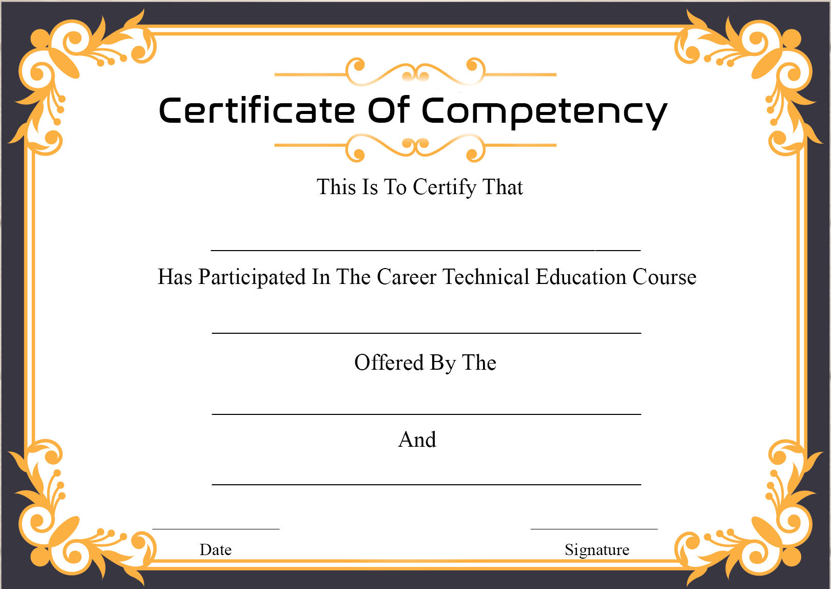 Certificate of Competency For Engineers