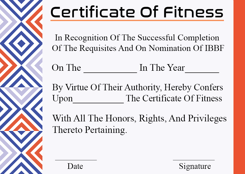 What is Certificate of Fitness