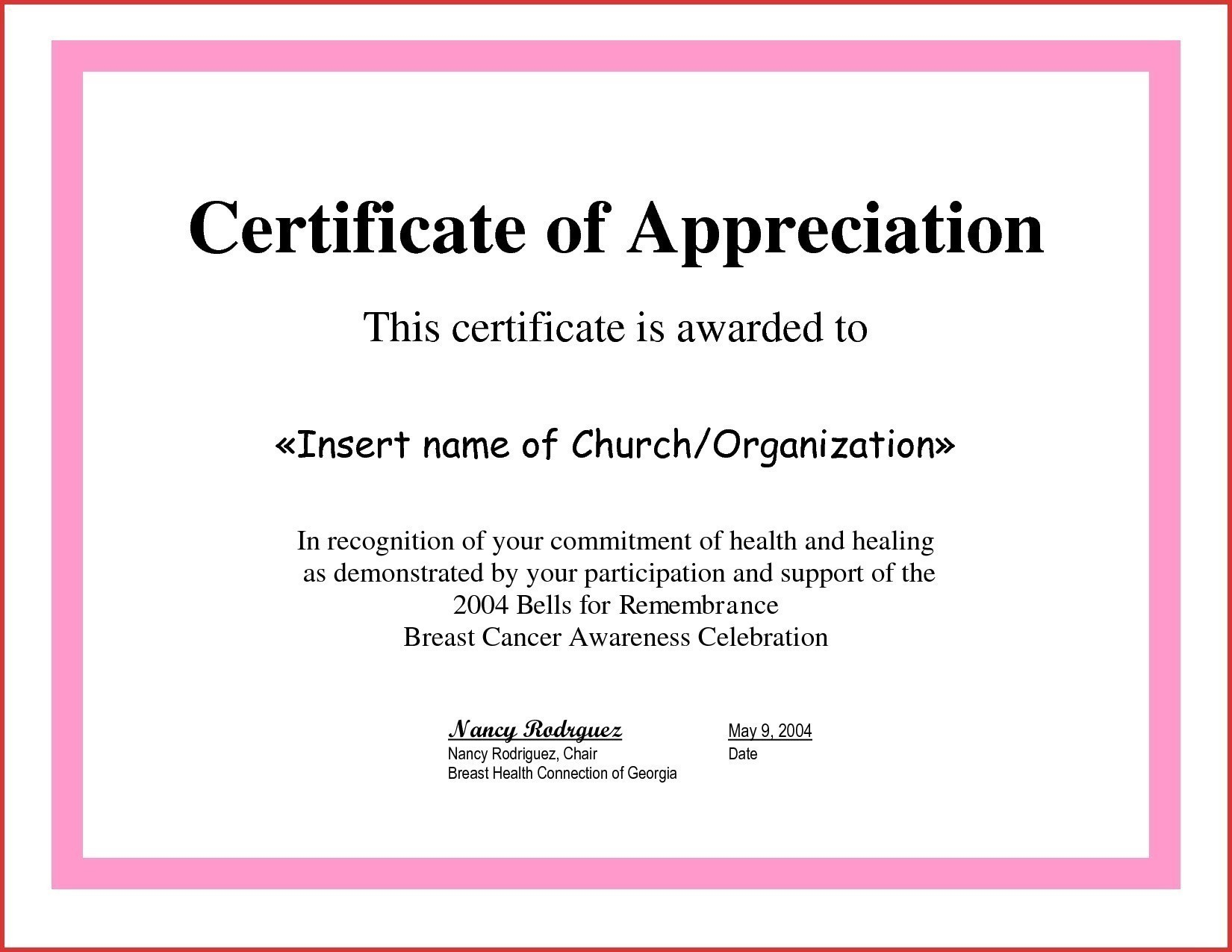 Certificate of Appreciation For Guest Speaker