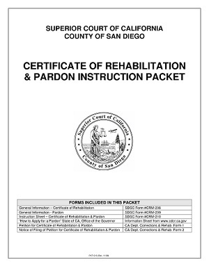 What is Certificate of Rehabilitation