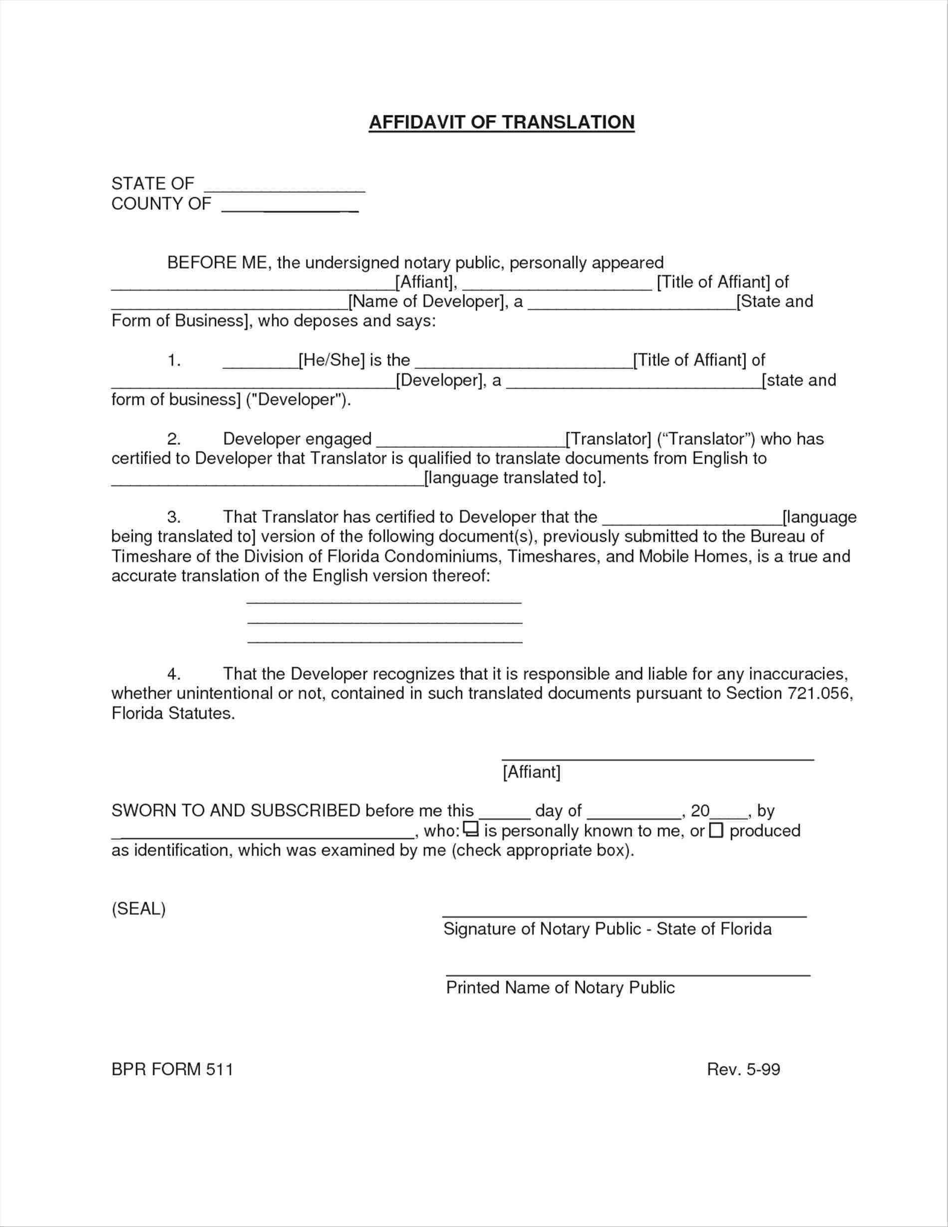 Certificate of Translatio