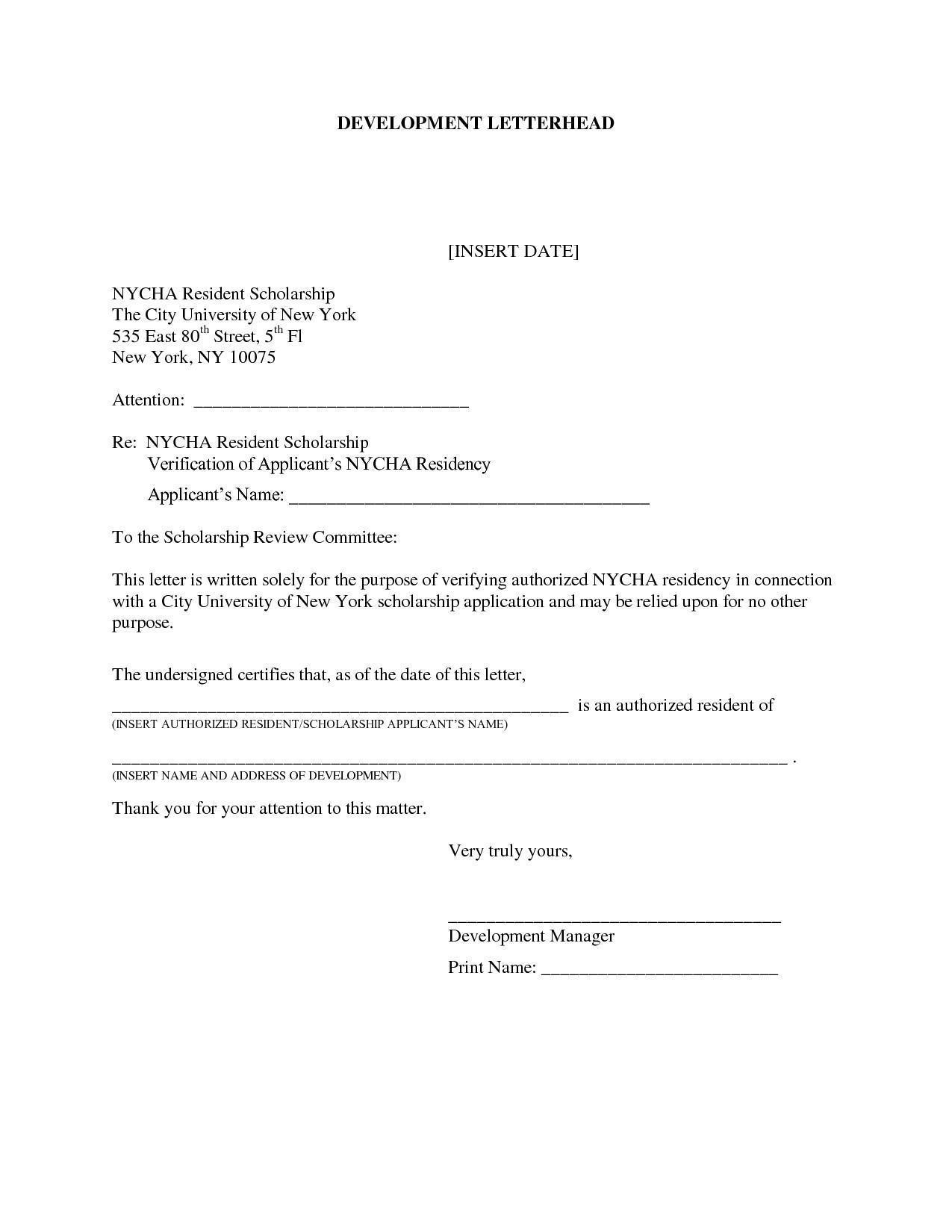 Certificate of Residence Sample