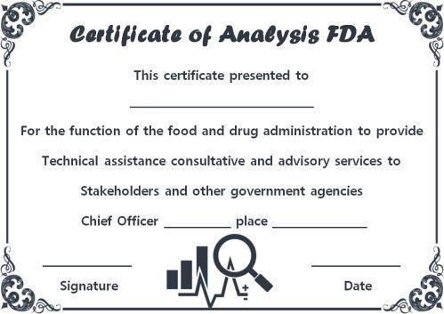 Certificate of Analysis Sample