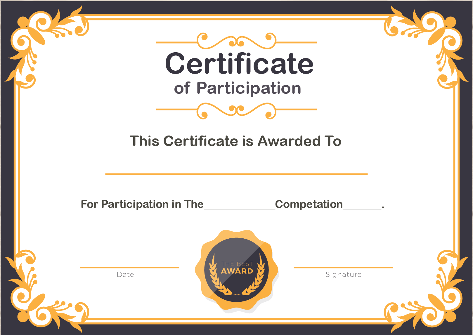 🥰Free Printable Certificate of Participation Templates (COP)🥰 Intended For Award Certificate Templates Word 2007