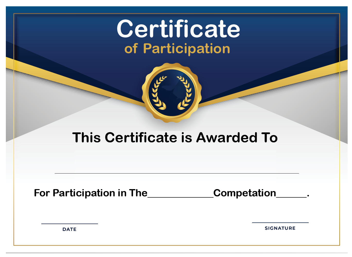 🥰Free Printable Certificate of Participation Templates (COP)🥰 With Award Certificate Templates Word 2007