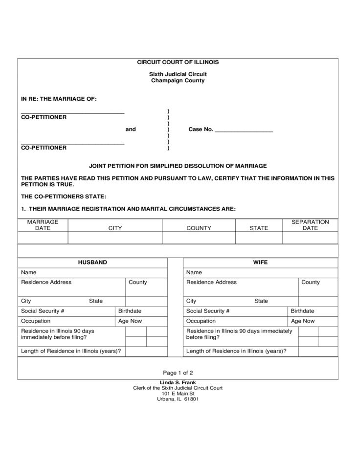 Certificate of Dissolution of Marriage Illinois