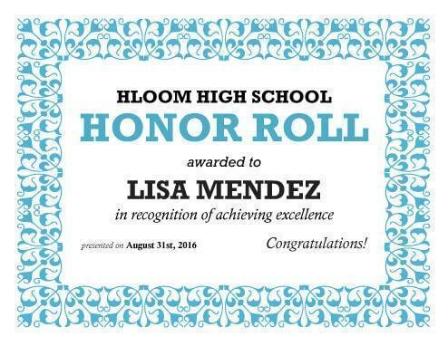 Certificate of Honor Template