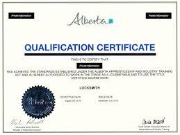 Certificate of Qualification Alberta