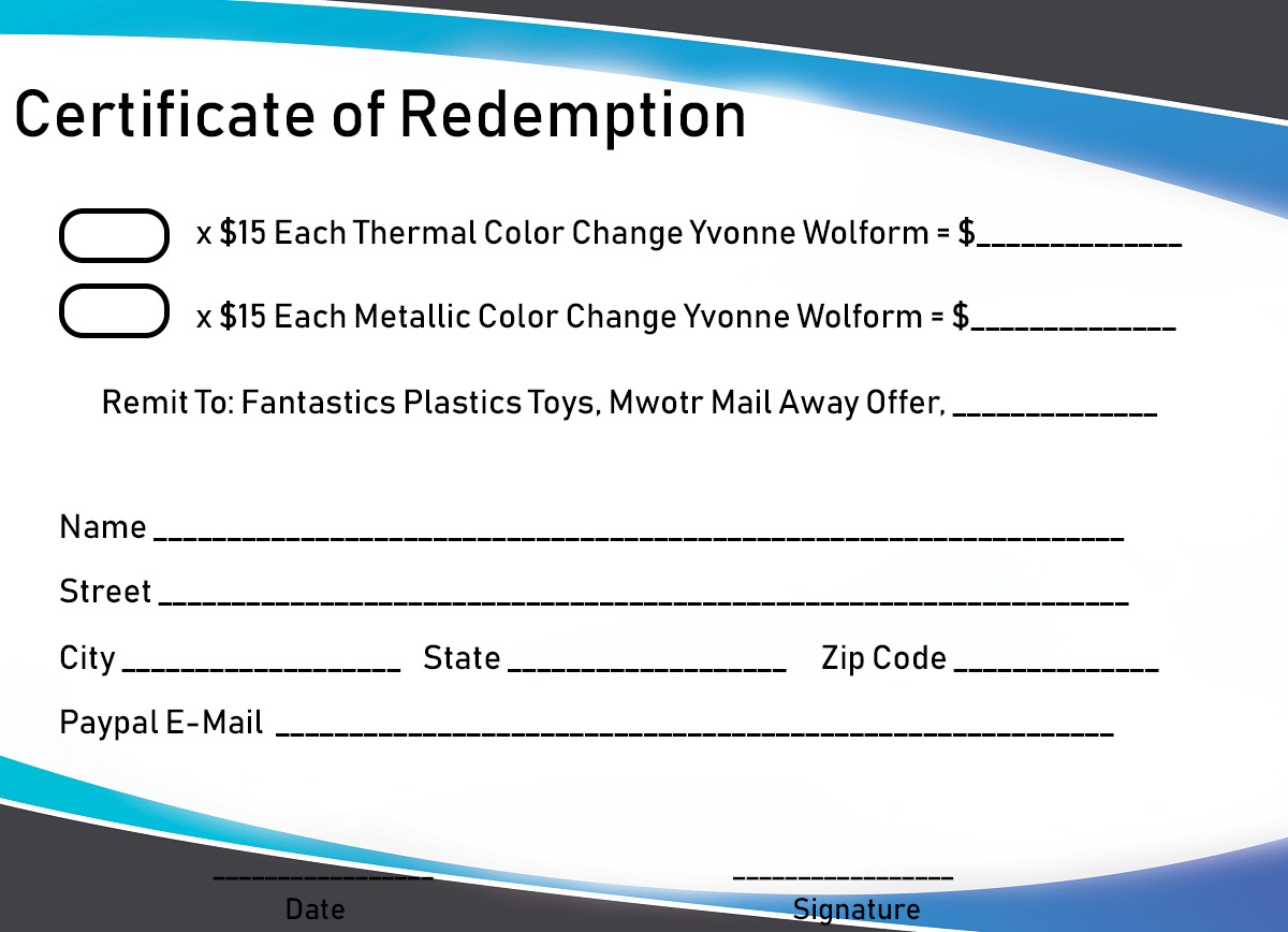 Certificate of Redemption Example