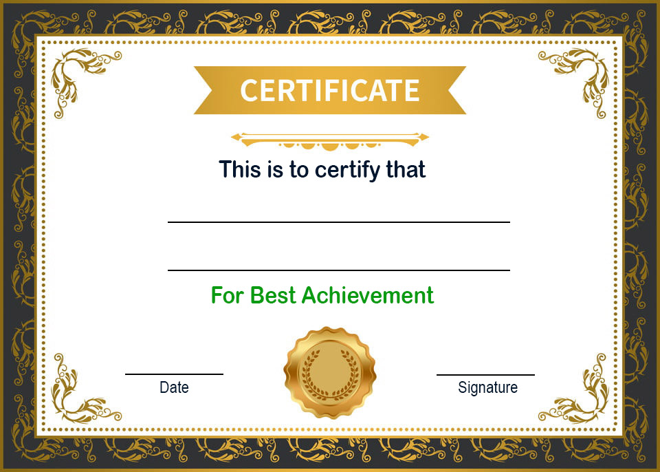 Certificate of Experience For Employement